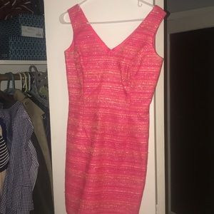 "Lily Pulitzer ""Chanel"" style pink tweed dress"